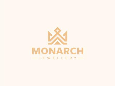 Monarch Logo corona luxury jewellery wealth management royal regal queen monarch majestic logo kingdom king finance fashion emblem crown connection community capital arrow
