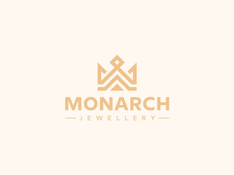 Monarch Logo corona luxury jewellery wealth management royal regal queen monarch majestic logo kingdom king finance fashion emblem crown connection community capital arrow