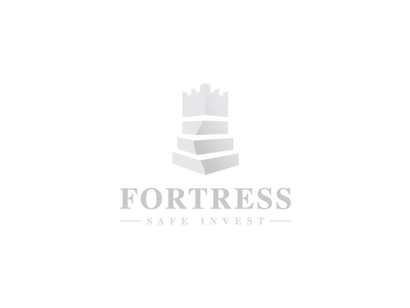 Fortress Logo wealth management tower security safe real estate protect logo king investments guardian fortress fort financial defense construction castle capital bastion bank architect