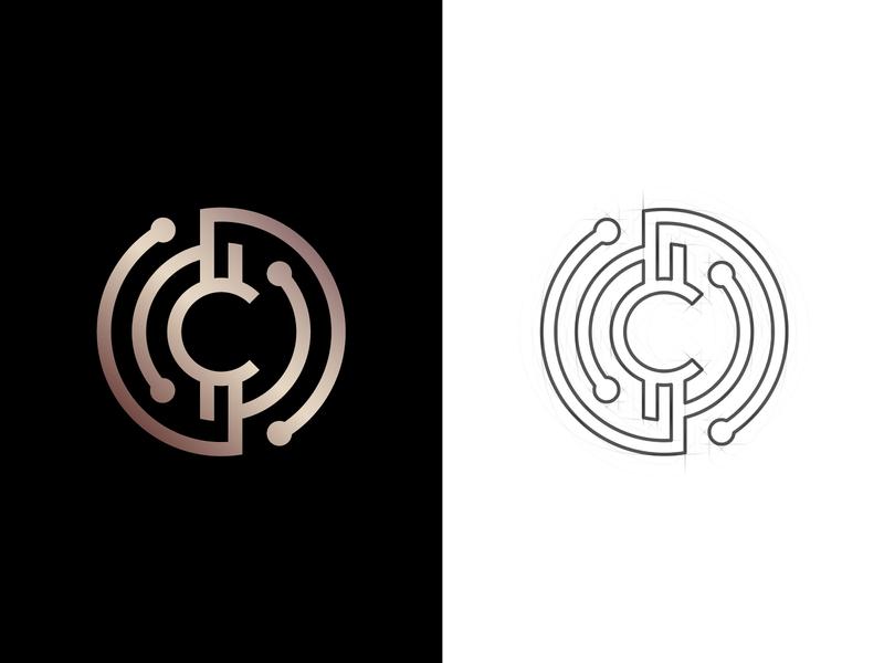 Crypto Coin Logo treasure virtual trade token technology tech network money logo fund finance dollar digital development currency crypto coin capital bitcoin bank