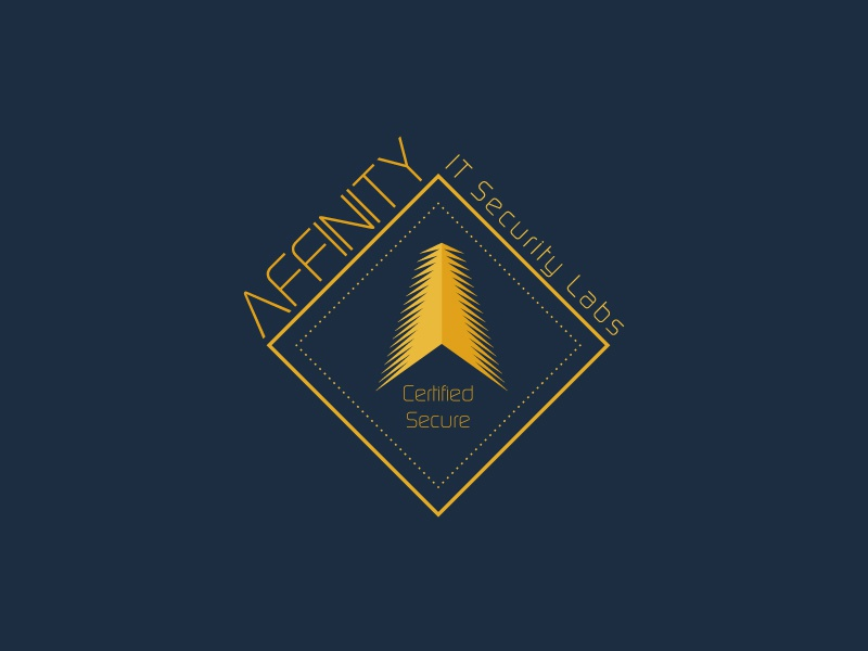 IT Security Labs arrow blue gold vector modern elegance minimal logo illustration icon flat design branding labs security it
