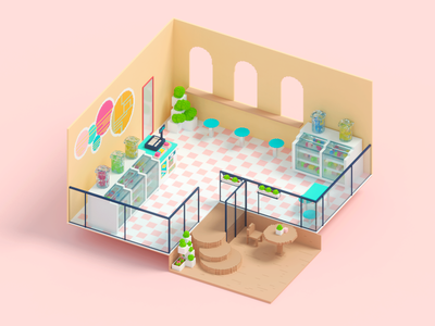 Candy Shop candy scene voxel art voxel