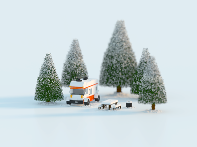 Winter 3d magicavoxel voxel