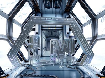 科技机械金属场景