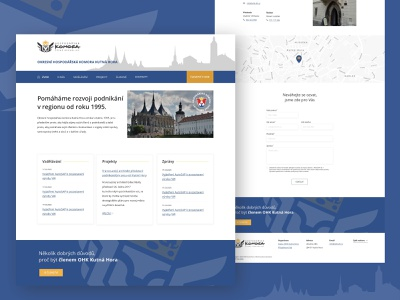 Czech Chamber of Commerce blue gold local business webdesign corporate design