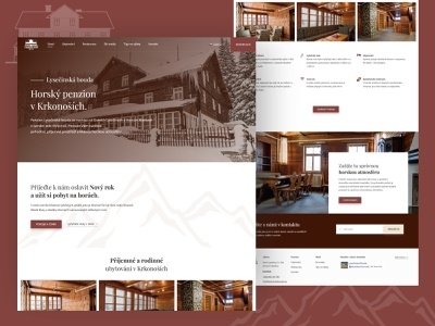Chalet hotel accommodation webdesign web design moutains hotel chalet