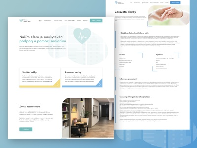 Redesign for Medical company yellow illustration blue medical design green web design care medical
