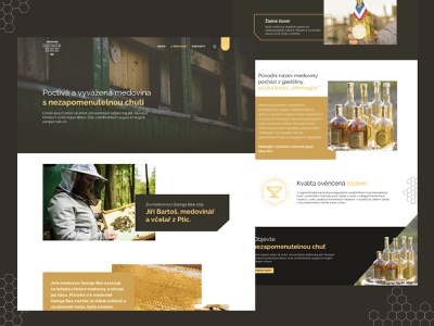 "Mead ""Honeymoon"" Landing page ladning page ecommerce design ui yellow dark brown web design"