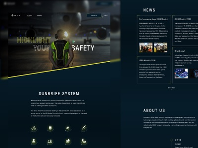 Scilif highlight dark web design ui