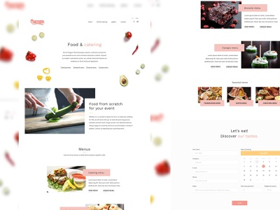 Culinaria -  The Catering services redesign web design food ui