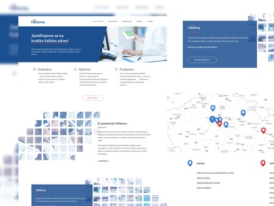 Filifarma pharmacy blue webdesign ui