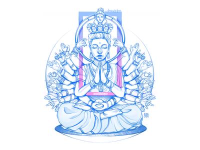 Kannon /Avalokiteśvara [अवलोकितेश्वर]