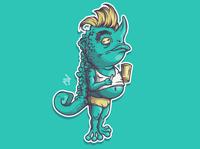 Chameleon Character 🦎