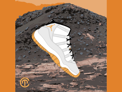 MARS MISSION J11 concept simplification mars illustration vector digitize jordan fashion shoes