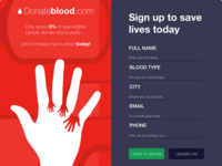 Donate Blood Signup Form