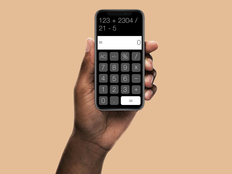 Calculator App for iPhone finance vector flatdesign designer daily 100 challenge calculator illustration daily ui ux design dribble mobile app sketch advertising design