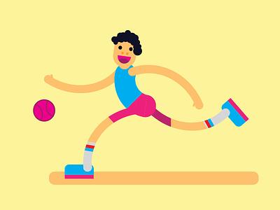 My new illustration : Basketball player character spirt basketball illustree
