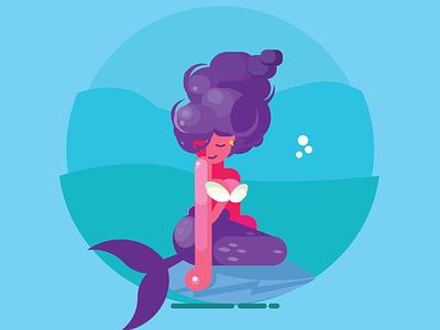 Mermaid character mermaid illustree
