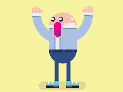 Scream Guy character dribbble vectorart vector illustrator illustration illustree