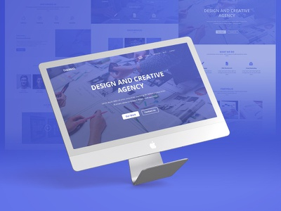 Thermo - PSD Template business agency template psd shop web creative envato ui design