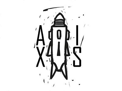 Axis sketch line illustrator illustration design black axis challenge logo daily
