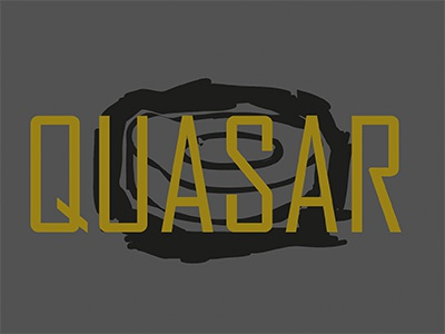 Quasar gold sketch line illustrator illustration design black quasar challenge logo daily