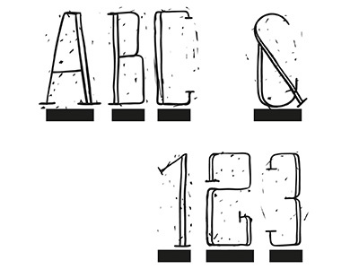 ABC123 sketch line illustrator illustration design black abc123 challenge logo daily