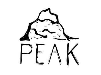 Peak sketch line illustrator illustration design black peak challenge logo daily