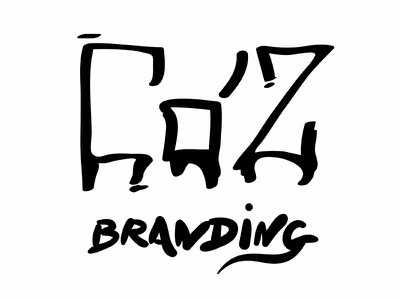 Coz Branding sketch line illustrator illustration design black branding challenge logo daily