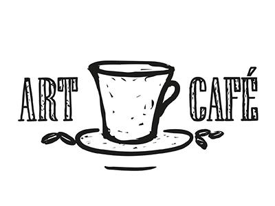 Art Café sketch line illustrator illustration design black café art challenge logo daily