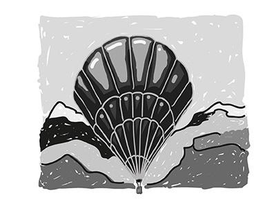 Balloon sketch line illustrator illustration design black balloon challenge logo daily