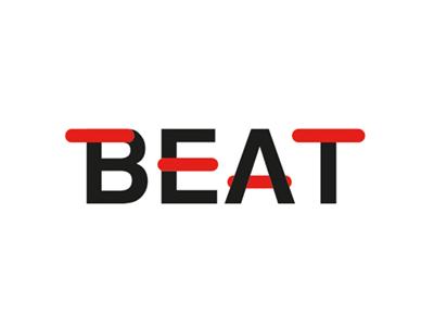 Beat red sketch line illustrator illustration design black beat challenge logo daily