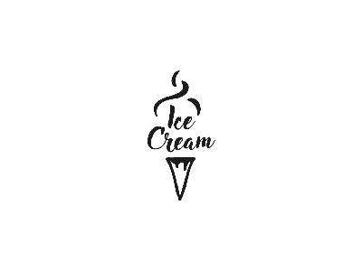 Ice Cream sketch line illustrator illustration design black cream ice challenge logo daily