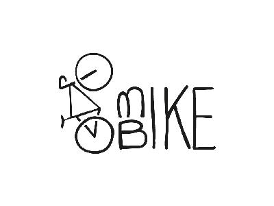 Bike sketch line illustrator illustration design black shop bike challenge logo daily
