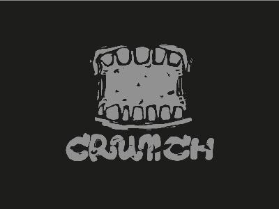 Crunch sketch line illustrator illustration design black challenge daily logo crunch