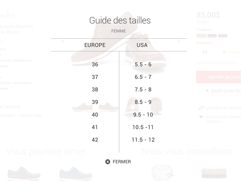 Shoes size guide guide size shoes store