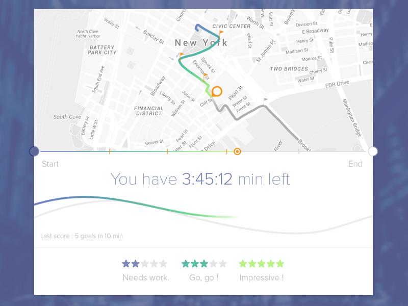 Sport UI time map ui sport