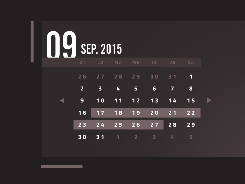 Another fancy calendar fancy number flat calendar