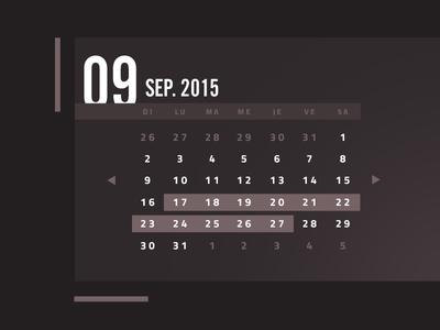 Another fancy calendar fancy number flat calendar