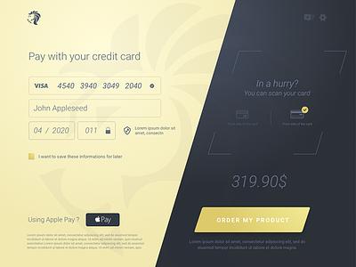 #dailyUI - 002- Credit Card Payment pay apple ipad checkout payment card credit dailyui ui daily
