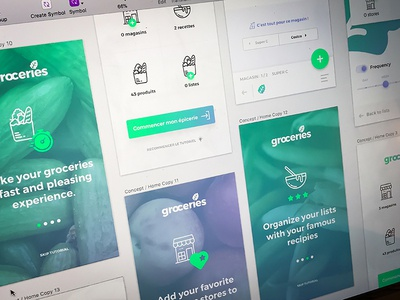 Groceries - Follow up. lists food vegetables app iphone mobile groceries