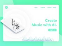 AI Music | Website Concept