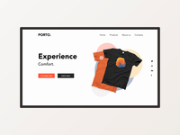 A home page for a concept website