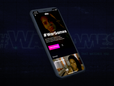 #Wargames iphonex ios app logo identity branding