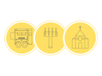 Wedding Catering Icons