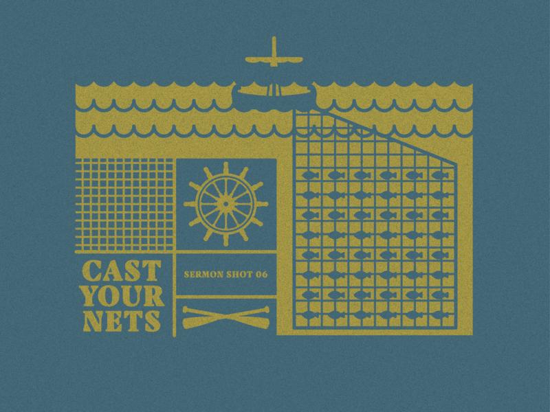 Sermon Shot 6 - Cast Your Nets sermonshot19 priest cast nets fish boat shot sermon