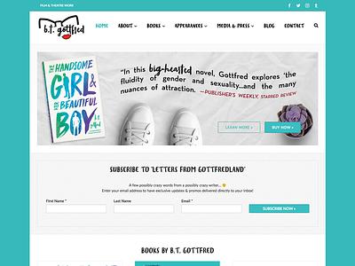 B.T. Gottfred (YA Author Website) b.t. gottfred young adult wordpress website design website books book author website author
