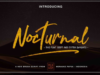 Noturnal Font trendy tshirt handwrite elegant feminine stylish logo weeding classy branding font