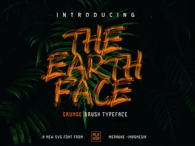 The Earth Face (coming soon) awesome unique font poster tshirt mlkwsn fontself brush svgfont
