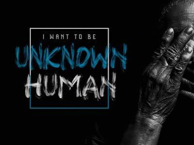 Unknown Human (the earth face font) brush font svgfont preview poster